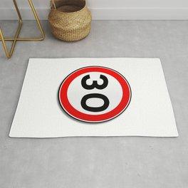 30 MPH Limit Traffic Sign Rug
