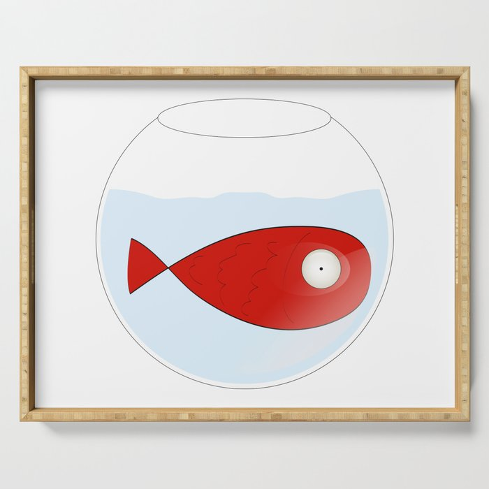red fish Serving Tray