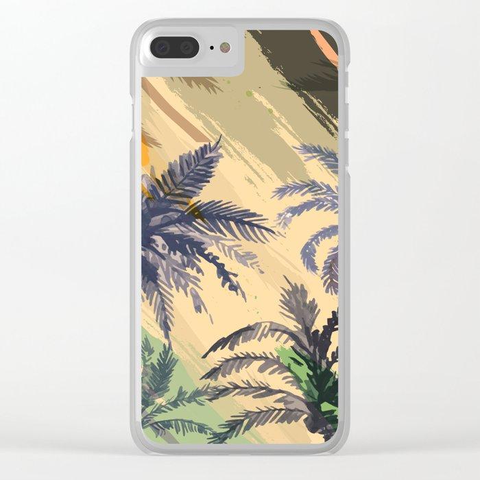 Palm Beach, summer Clear iPhone Case