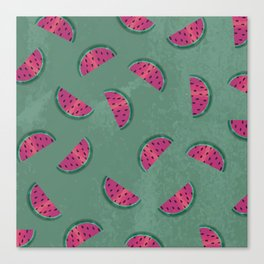 Watermelon Wiggle Canvas Print