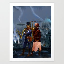 Steampunks Art Print
