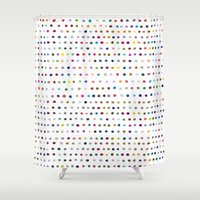 dots Shower Curtains featuring Dots by Farnell