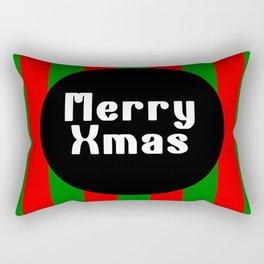 merry Xmas funny logo pattern Rectangular Pillow