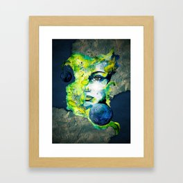 Esther Green (Set) by carographic watercolor portrait Framed Art Print