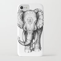 ornate elephant iPhone & iPod Cases featuring Ornate elephant by Creadoorm