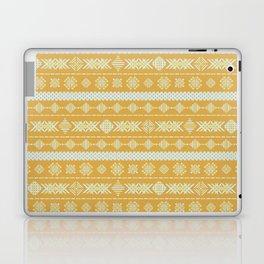 Yellow ethnic geometric embroidery Laptop & iPad Skin
