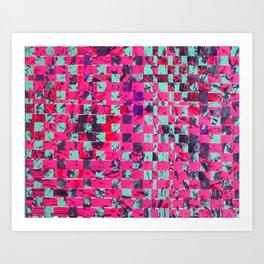 Repeated pattern music rhythm Art Print