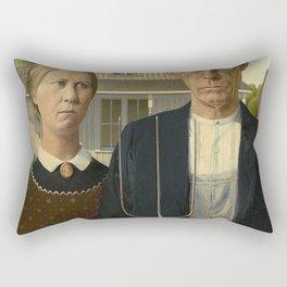 AMERICAN GOTHIC - GRANT WOOD Rectangular Pillow
