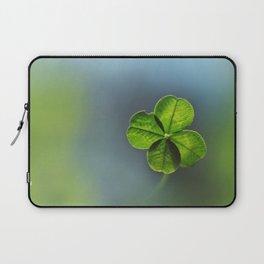 Lucky Four Leaf Clover Laptop Sleeve