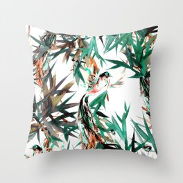 Beautiful birds in paradise Throw Pillow