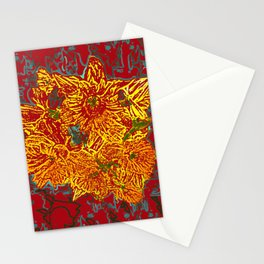 FlowerPower in Red and Yellow Stationery Cards