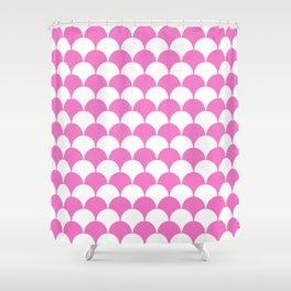Fan Pattern 321 Pink Shower Curtain