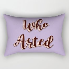 Who Arted - Lavender Palette Rectangular Pillow