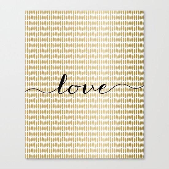 Love Gold Canvas Print