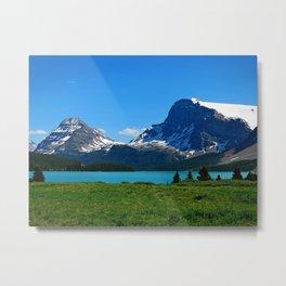 Bow Lake, Canadian Rockies Metal Print