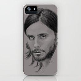 Jared Leto Digital Portrait grey LLFD iPhone Case
