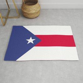Puerto Rico flag emblem Rug