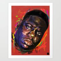 notorious Art Prints featuring Notorious  by Tetevi Teteh