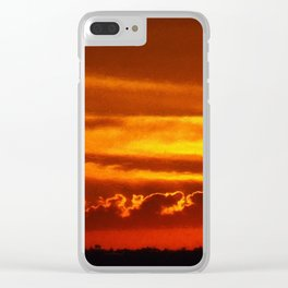 Sunset Layers   Ferntree Gully Clear iPhone Case