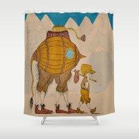 journey Shower Curtains featuring Journey by Liz Hermanson