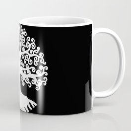 black and white abstract tree of life II Coffee Mug