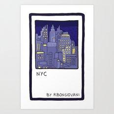 NEW YORK Card Art Print