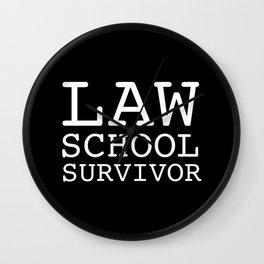 Law School Survivor Wall Clock