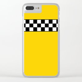 NY Taxi Cab Cosplay Clear iPhone Case