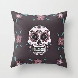Skull Skill Throw Pillow