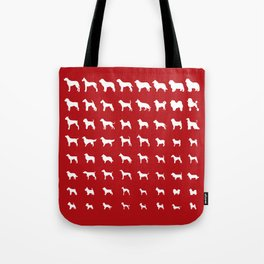 All Dogs (Red) Tote Bag