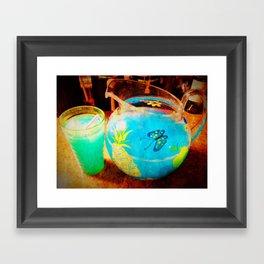 blue kool aid. Framed Art Print