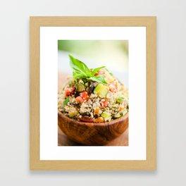 Tabouleh Salad in an Olive Wood Bowl Framed Art Print