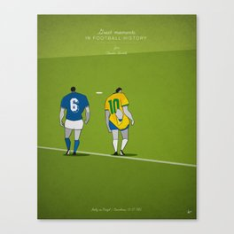 Great moments in football history - The Fight (1982) - Zico - Italy vs Brazil Canvas Print