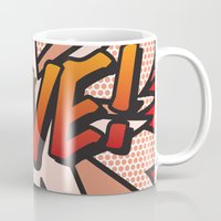 comic book Mugs featuring Comic Book LOVE! by Thisisnotme