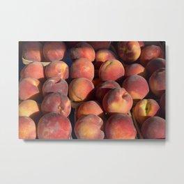 Peach Party Metal Print