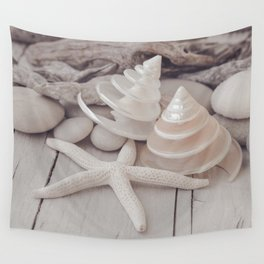 Beach Still Life With Shells And Starfish Wall Tapestry