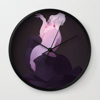 ursula Wall Clocks featuring Ursula by Sébastien Leboeuf (A.k.a Sonny)