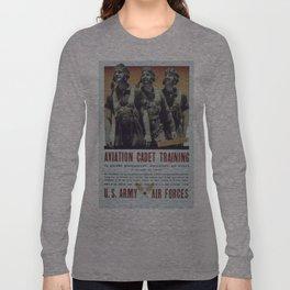 Vintage poster - Aviation Cadet Training Long Sleeve T-shirt