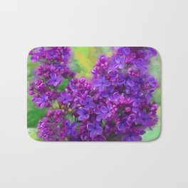 Watercolor Lilac Bath Mat