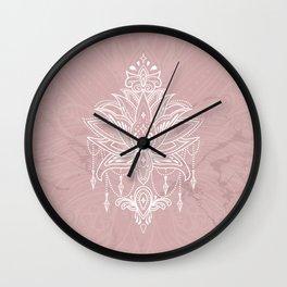 Blush pink mandala Wall Clock