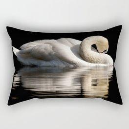 White Swan Rectangular Pillow
