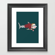 Shark LumberJack Framed Art Print