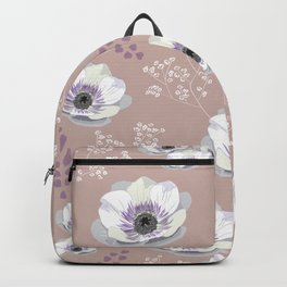 Anemones IV: pattern beige Backpack