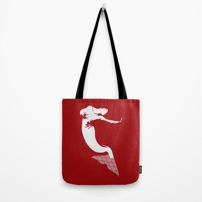 Merman - Red & White - Mermay 2019 Tote Bag