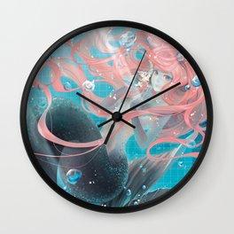 pool mermaid Wall Clock