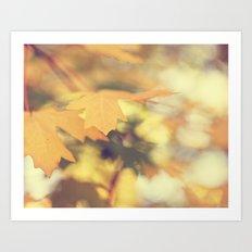 Autumns Yellow Art Print