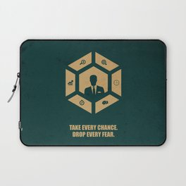 Lab No. 4 - Take Every Chance Drop Every Fear Corporate Start-up Quotes Laptop Sleeve