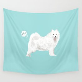 samoyed funny farting dog breed pure breed pet gifts Wall Tapestry