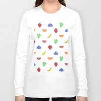 fruit Long Sleeve T-shirts featuring Fruit by brittcorry