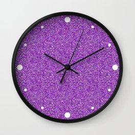 Purple Moondust Glitter Pattern Wall Clock